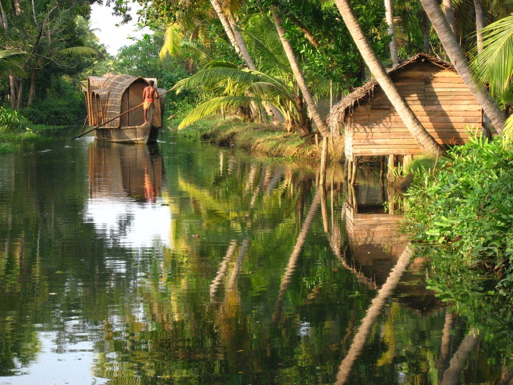 Backwater in Kerala, India. By Thursday Next. CC-BY 2.0.
